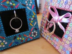 DIY with A Glass of Wine: DIY engagement ring holders