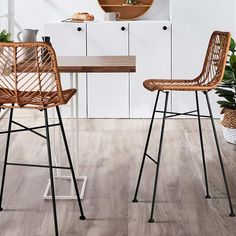 Artiss Wicker Bar Stools Outdoor Rattan Bar Stool Chairs Barstools Brown - 9350062119648 For Sale, Buy from Sets of 2 Bar Stools collection at MyDeal for best discounts. Wicker Bar Stools, Rattan Stool, Bar Stool Chairs, Room Chairs, Outdoor Bar Stools, Leather Bar Stools, Lounge Chairs, Swivel Chair, Dining Chairs