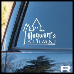 Hogwarts' School of Witchcraft & Wizardry ALUMNI, Harry Potter-inspired Fan Art, Vinyl Car/Laptop Decal Maserati Ghibli, Art Vinyl, Vinyl Decals, Decals For Cars, Cute Car Decals, Car Stickers, Vehicle Decals, Car Window Stickers, Sticker Ideas