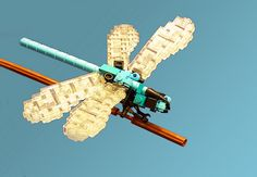 A quick dragonfly for the Iron Builder challenge using the medium azure clip light.
