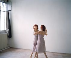 Monette and Mandy are adult identical twins who live together and dress identically in public. I love these photos of them by Maja Daniels.