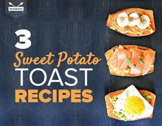 Toast Sweet Potato Slices for a Genius Bread Substitute! Paleo Recipes, Real Food Recipes, Snack Recipes, Cooking Recipes, Yummy Food, Paleo Food, Paleo Ideas, Simple Recipes, Skinny Recipes
