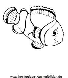 Ausmalbild Fisch 2 Ausdrucken Ausmalbilder Fische Ausmalen Fische Zeichnen
