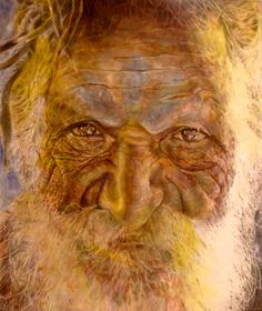 The Sadhu  Acrylic and pencil on canvas  30 x 24 in  http://www.markliamsmith.com/painting/thesadhu