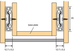 Full Extension Drawer Slide, Ball Bearing Drawer Slide, Telescopic Channel Drawer Slide Woodworking Shop Layout, Woodworking Basics, Woodworking Jigs, Carpentry, Woodworking Projects, Spiral Staircase Plan, European Hinges, Garage Organization Tips, Joinery Details