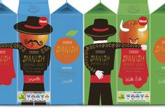British mega-retailer Tesco has released a new design for its Tesco Private brand Spanish Orange Juice range, the playful, though-provoking packaging by the design consultancy P was implemented across 2 varieties.