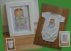 illustratie voor geboorte ook verwerkt op romper