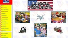 US regions tour ideas and interactive links. Class website