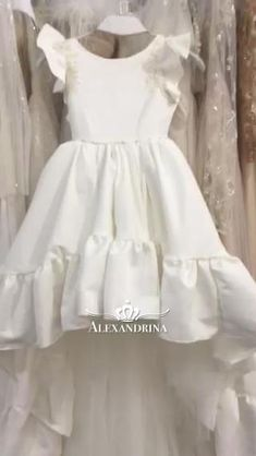 Baby Girl Dresses, Flower Girl Dresses, Childrens Party Dresses, Kids Gown, Baptism Gown, Frilly Dresses, Girls Fashion Clothes, Kaftans, Cute Baby Clothes