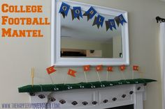 College Football Mantel - The Happier Homemaker