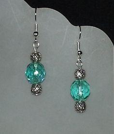 beaded earrings- love the color!