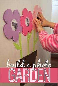 Toddler Approved!: Build a Photo Garden for Babies & Toddlers, would make a cute preschool classroom billboard display for spring time.