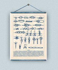 Sailor Knots Print Nautical knots Marine Knots Poster Decorative arts Sailing club Sail center Seaside Wall Decor Nautical art 11x14 (25.00 USD) by AlgaNet