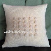 Bobble Square pillow - via @Craftsy