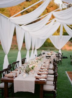 Sunny Al Fresco Wedding in Ojai & Stunning wedding canopy/tent. Unique tented style as it fits ...