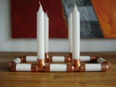 Kerzenständer - Kerzen/Reagenzglashalter *Bauhaus* - ein Designerstück von marpe18 bei DaWanda