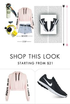 """""""bu"""" by mariana2702 ❤ liked on Polyvore featuring NIKE"""