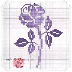 Rosa filet crochet patron