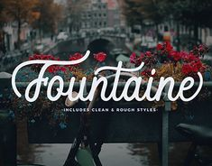 "Check out new work on my @Behance portfolio: ""Fountaine Script With Clean And Rough Styles"" http://be.net/gallery/61053321/Fountaine-Script-With-Clean-And-Rough-Styles"