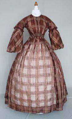 1860's sheer dress.