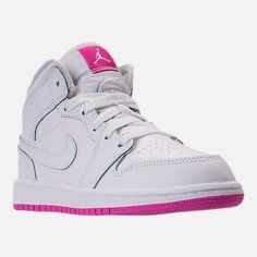 dc3c9a7ea379 Nike Girls  Preschool Air Jordan 1 Mid Basketball Shoes  basketballshoes  Converse Shoes