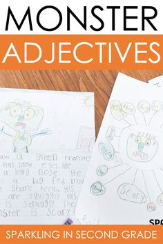 Adjective practice and activity for grade 1 and grade 2. Can be used during Halloween time too!