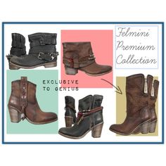 Spring boots from the Felmini Premium collection. Spring Boots, Dublin, Cowboy Boots, Lady, Girls, Polyvore, Shoes, Collection, Fashion