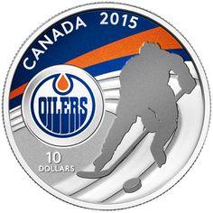 460cc723c Canada 10 Dollars Silver Coin 2015 Edmonton Oilers Canadian Coins
