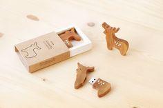 Reindeer and Pine Tree USB Flash drive