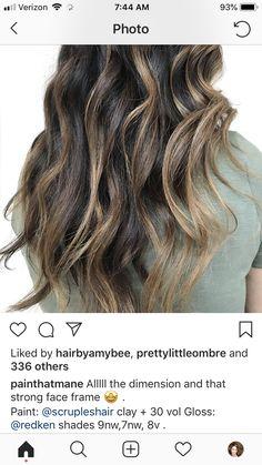 Caramel Balayage, Brown Balayage, Hair Tips, Hair Hacks, Hair Color Formulas, Redken Shades Eq, Icy Blonde, Face Framing, Hair Colour