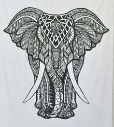 hippie elephant tapestry large wall hanging psychedelic medallion tapestries #Unbranded