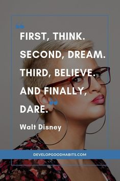 Check out this powerful Walt Disney quote that dares us to dream and grow. Think. See more great Walt Disney quotes by checking out the complete article. Disney Dream Quotes, Disney Family Quotes, Walt Disney Quotes, Disney Disney, Good Quotes, Self Love Quotes, True Quotes, Daring Quotes, Motivational Quotes