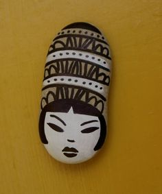 painted stone cleopatra