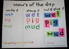 We use letter tiles from lakeshore a a lot. I don't know why, but i never thought about making our own! CVC word activity
