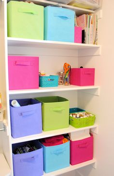Organizing Craft Supplies (in A Small Space)