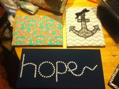 DIY canvas art for the dorm! Super easy!!