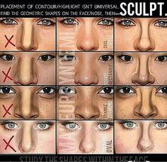 Correct nose contour