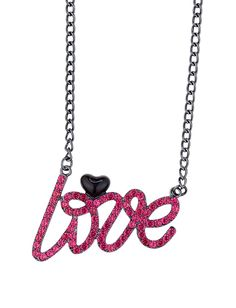 Rhinestone Love Necklace - $12.00 - adorable!!! I love this necklace!!!
