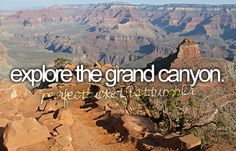 I've always always always wanted to go to the Grand Canyon. It has GOT to be the most amazing thing in America. Places Ive Been, Places To Visit, Stuff To Do, Things To Do, Girly Things, Grand Canyon, One Day I Will, Summer Bucket Lists, Before I Die