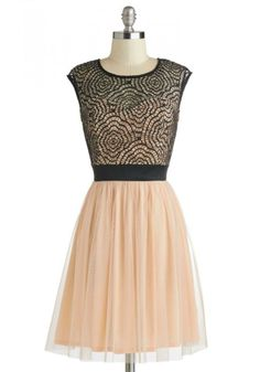 Rush Week Nude and Black Party Dress - Bourbon & Boots