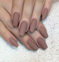 55 Best Simple Matte Nail Polish Designs to Copy ASAP matte polishes turn any basic manicure into a legit beauty lewk, soft, hazy, and definitively understated Coffin Nails Matte, Matte Nail Polish, Gel Nails, Coffin Acrylics, Acrylic Nails Almond Matte, Coffin Nails Short, Gel Polish, Fake Acrylic Nails, Best Nail Polish