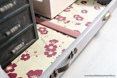 papel-flores-decorar-cajones-madera