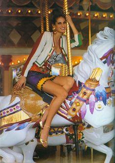 ☆ Mystee Beckenback | Photography by Arthur Elgort | For Vogue Magazine UK | March 1991 ☆ #Mystee_Beckenback #Arthur_Elgort #Vogue #1991
