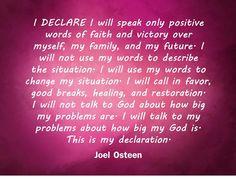 I Declare. by Joel Osteen