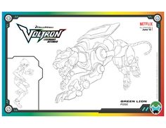Voltron Green Lion Coloring Page