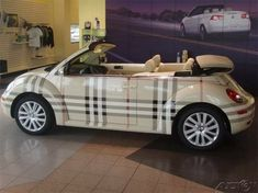 A Burberry Beetle to ride in style - you'll definitely turn heads as you drive happily off into the sunset