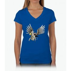 Hippogriff Flight Harry Potter Womens V-Neck T-Shirt