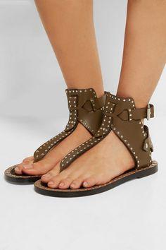 Isabel Marant|Johanna studded leather sandals|NET-A-PORTER.COM