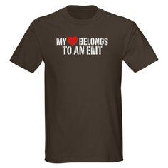 My Heart Belongs to an EMT Dark T-Shirt