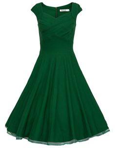Retro Audrey Hepburn 50s Dress Women Vintage Solid Robe Party Dresses Summer Sleeveless Cocktail Plus Size S-XXL Vestidos D51119